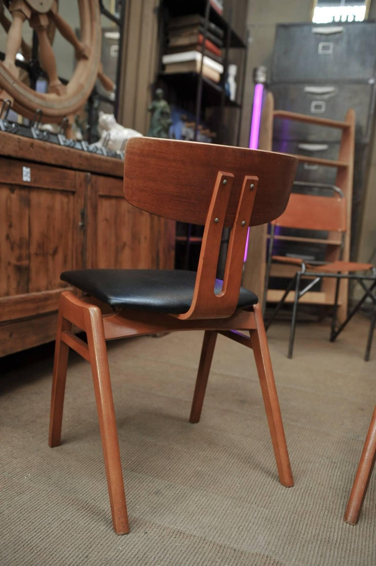 Scandinavian Modern Set of Six Scandinavian Teak Chairs, 1960s For Sale