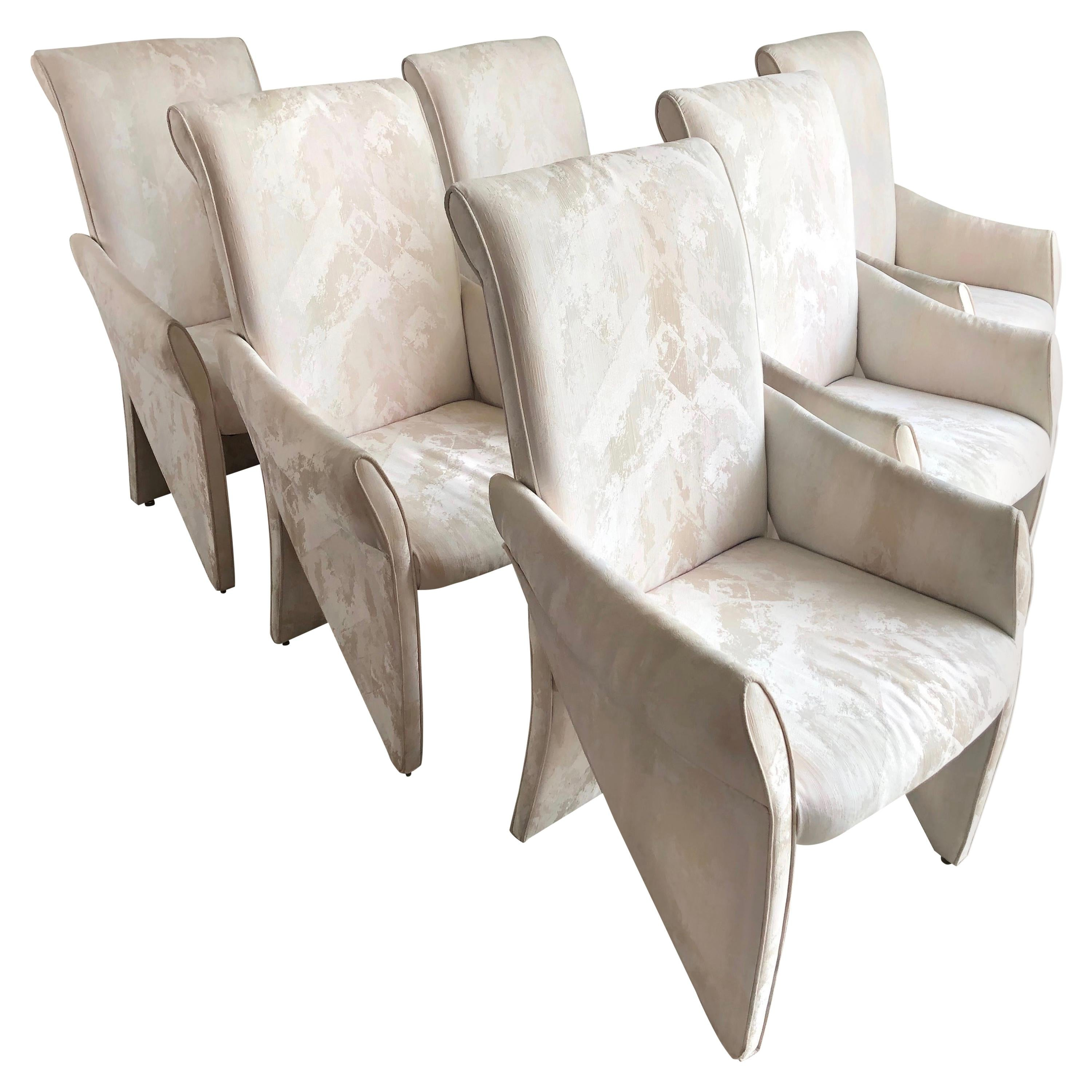 Set of 6 Sculptural Dining Chairs by Carson's of Highpoint