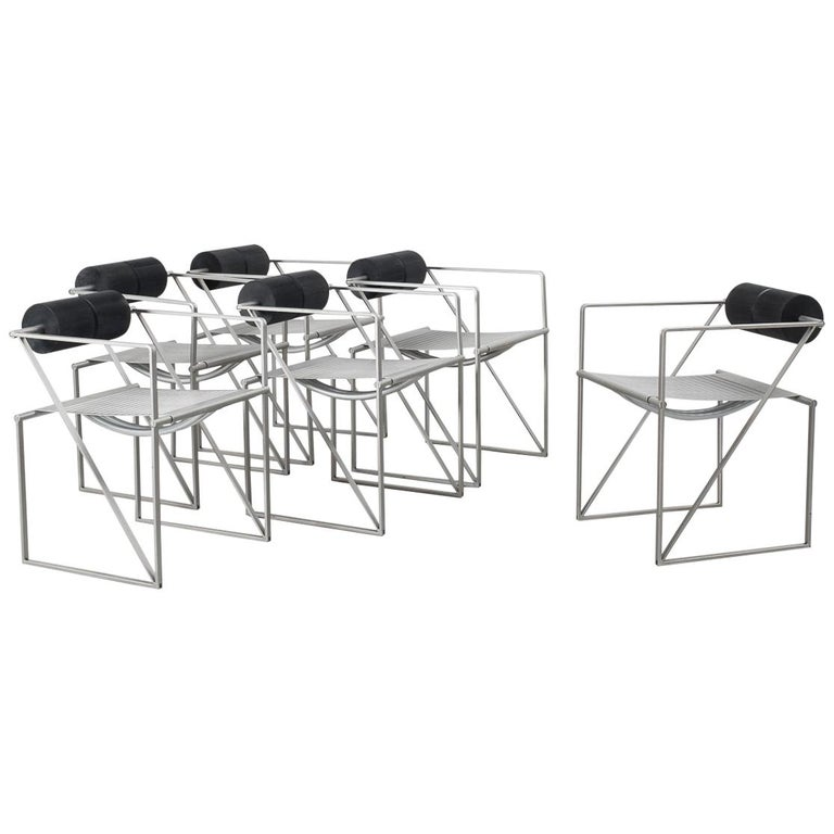 Set of 6 Seconda Chairs by Mario Botta for Alias, Italy, 1985 For Sale