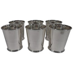 Set of 6 Sterling Silver Mint Julep Cups by Kirk of Baltimore