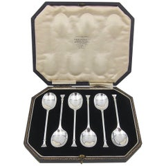 Set of 6 Sterling Silver Spoons from Cooper Brothers and Sons of Sheffield 1925