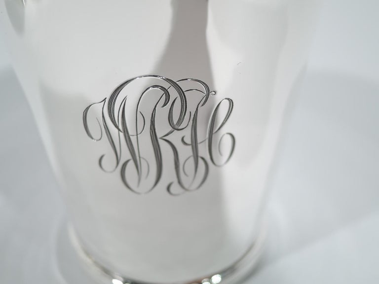 20th Century Set of 6 Stieff American Sterling Silver Mint Julep Cups For Sale