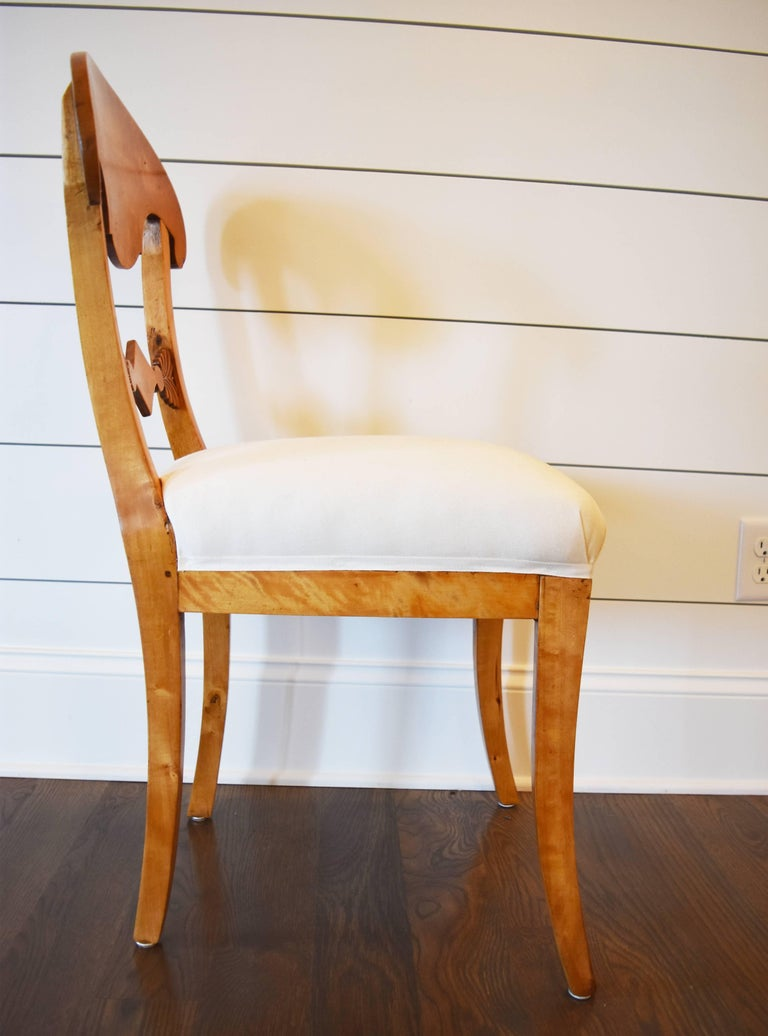 19th Century Set of Six Swedish Biedermeier Dining Chairs For Sale