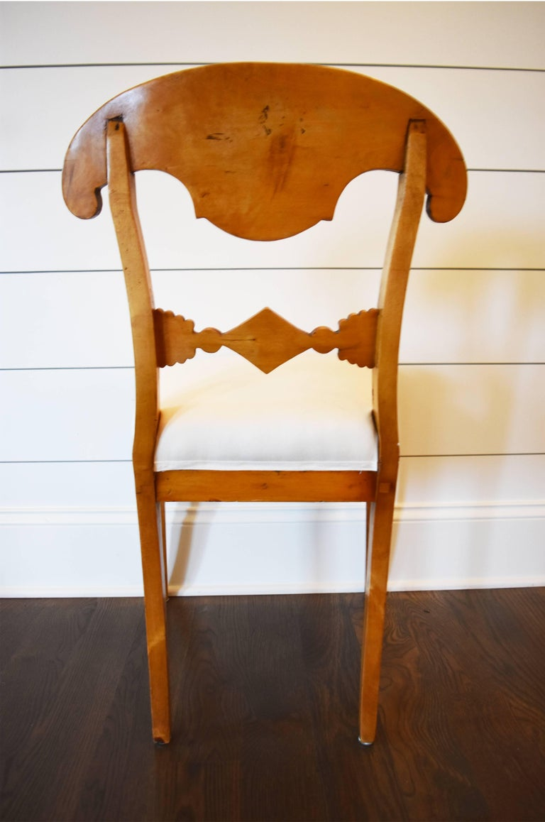 Set of Six Swedish Biedermeier Dining Chairs For Sale 1