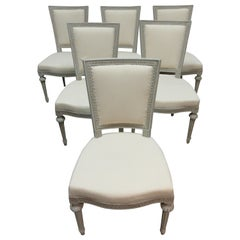 Set of 6 Swedish Gustavian Side Chairs