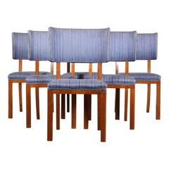 Set of 6 Swedish Mid Century Modern Dining Chairs, circa 1960