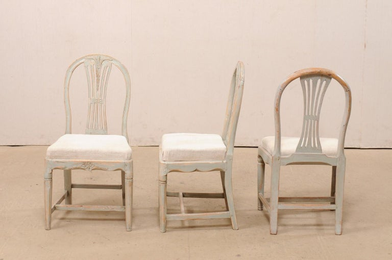 Set of 6 Swedish Provincial Gustavian Carved Wheat-Back Chairs 5
