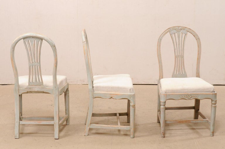 Set of 6 Swedish Provincial Gustavian Carved Wheat-Back Chairs 6