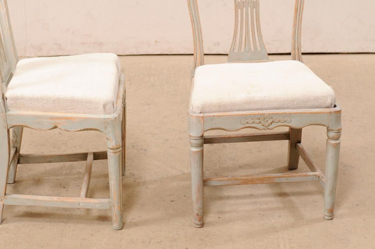 Set of 6 Swedish Provincial Gustavian Carved Wheat-Back Chairs 1
