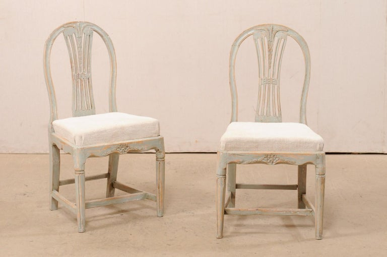 Set of 6 Swedish Provincial Gustavian Carved Wheat-Back Chairs 2