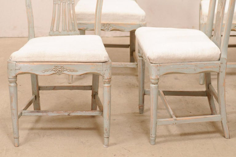 Set of 6 Swedish Provincial Gustavian Carved Wheat-Back Chairs 3