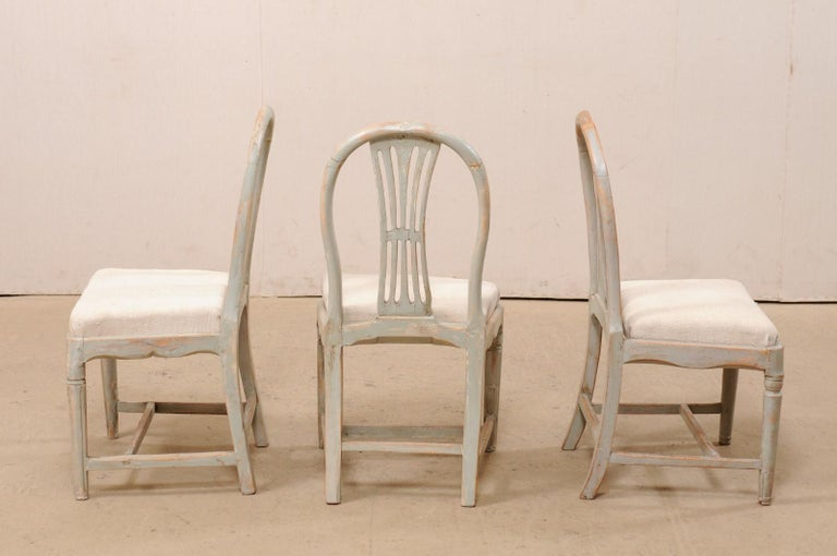 Set of 6 Swedish Provincial Gustavian Carved Wheat-Back Chairs 4