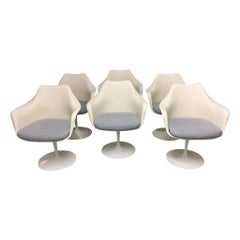 Set of 6 Swiveling Tulip Armchairs by Eero Saarinen for Knoll International