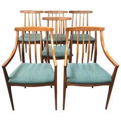 Set of 6 Teak British Midcentury Dining Chairs by Younger of Glasgow