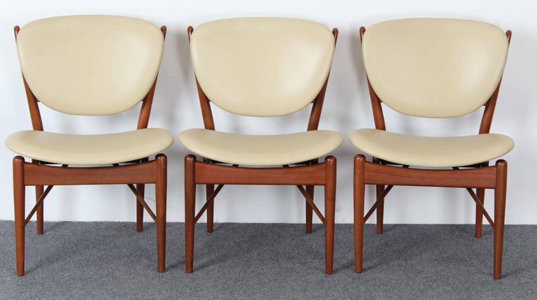 American Set of Six Teak Finn Juhl NV-51 Dining Chairs for Baker Furniture Company, 1960s For Sale