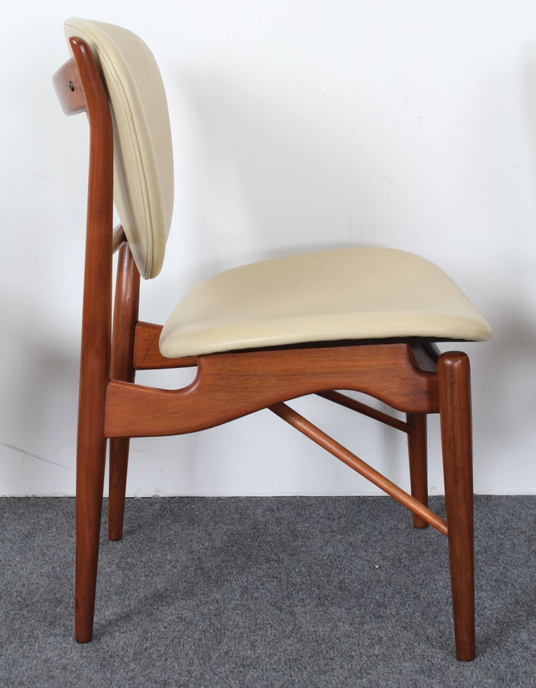 Set of Six Teak Finn Juhl NV-51 Dining Chairs for Baker Furniture Company, 1960s For Sale 2