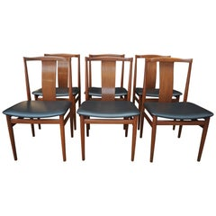 Set of 6 Teak Scandinavian Dining Room Chairs, circa 1960