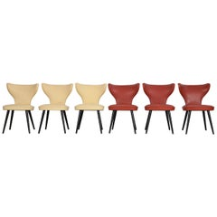 Set of 6 Thonet Chairs, 1950s