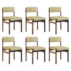 "Set of 6 ""Tião"" Chairs, by Sergio Rodrigues, 1959, Jacaranda Rosewood"