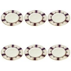 Set of 6 Tiffany Dinner Plates