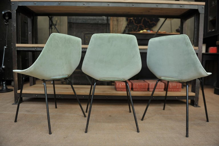 Set of 6 Tonneau Chairs by Pierre Guariche for Steiner, 1954 For Sale 5