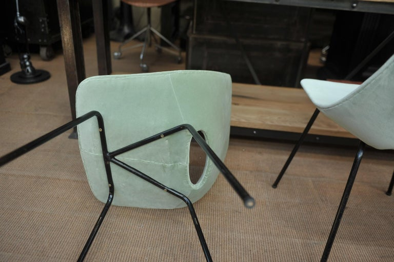 Set of 6 Tonneau Chairs by Pierre Guariche for Steiner, 1954 For Sale 6