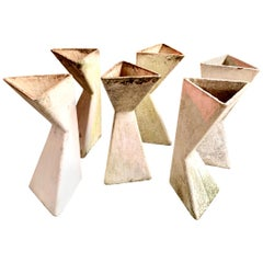 Set of 6 Triangular Double Sided Planters by Willy Guhl