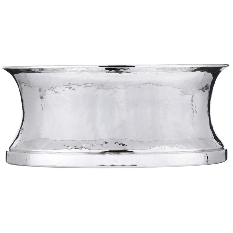 Set of 6 Troiana Sterling Silver Bottle Coasters For Sale