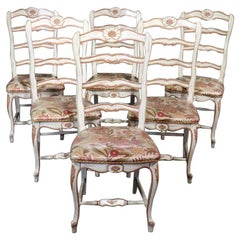 Set of 6 Troy Wesnidge Louis XV Style Dining Side Chairs