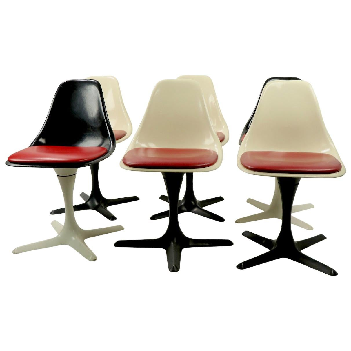 Set of 6 Tulip Chairs by Burke