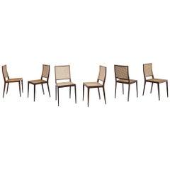 Set of 6 Unilabor Chairs MT 552, Geraldo de Barros, 1960s, Brazilian Design