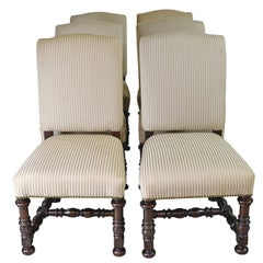 Set of 6 Upholstered Dining Chairs by Craftique from Biltmore Estate Collection