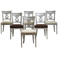Set of 6 Very Rare Dinning Room Chairs, circa 1820