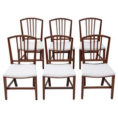 Set of 6 Victorian Mahogany Dining Chairs, 19th Century