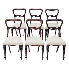 Set of 6 Victorian Rosewood Dining Chairs, circa 1870