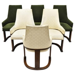 Set of 6 Vintage Mid-Century Modern Brutalist Dining Chairs by United Furniture