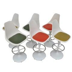 Set of 6 Vintage Midcentury Umanoff Saarinen Style Stools