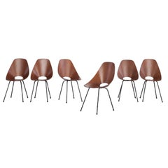 Set of 6 Vittorio Nobili Medea Plywood Chairs from Italy, 1954