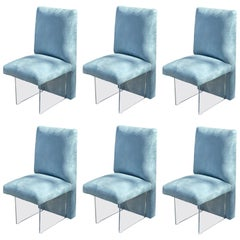 "Set of 6 Vladimir Kagan Channeled ""Clos"" Chairs"