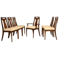 Set of 6 Walnut Dining Chairs