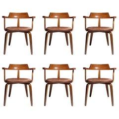 Set of 6 Walter Gropius Chairs for Thonet