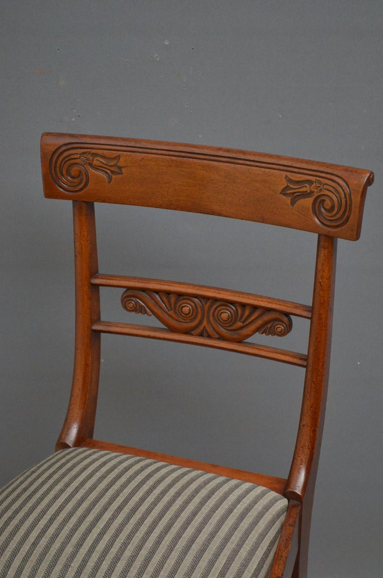 Set of 6 William IV Mahogany Dining Chairs For Sale 1