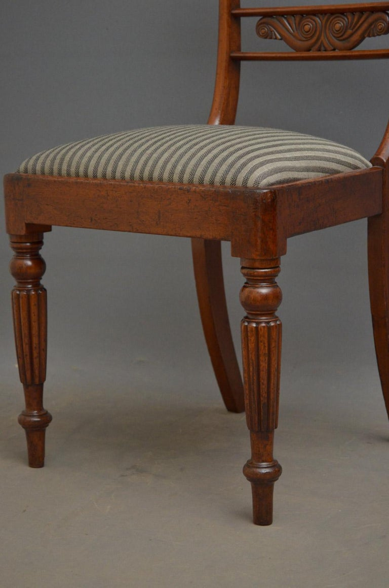 Set of 6 William IV Mahogany Dining Chairs For Sale 3