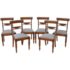 Set of 6 William IV Mahogany Dining Chairs