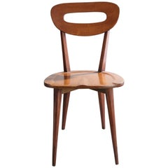 Set of 6 Wooden Chairs, Brazil, circa 1950