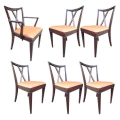 Set of 6 X-Back Dining Chairs by Paul Frankl