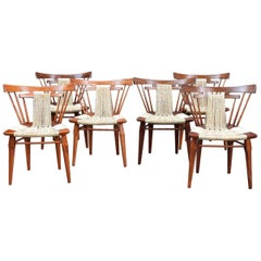 """Set of 6 """"Yucatan"""" Vintage Chairs design by Edmond Spence for Industria Mueblera"""