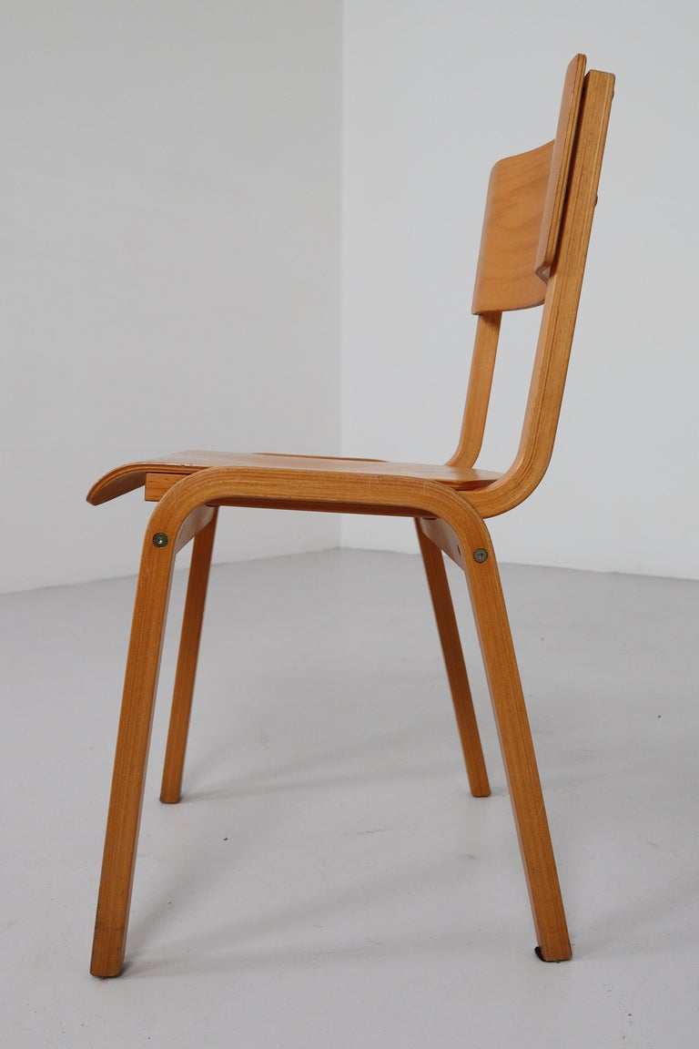 Set of 60 Scandinavian Modern Chairs Made from Bentwood and Plywood 1960s  In Good Condition For Sale In Almelo, NL