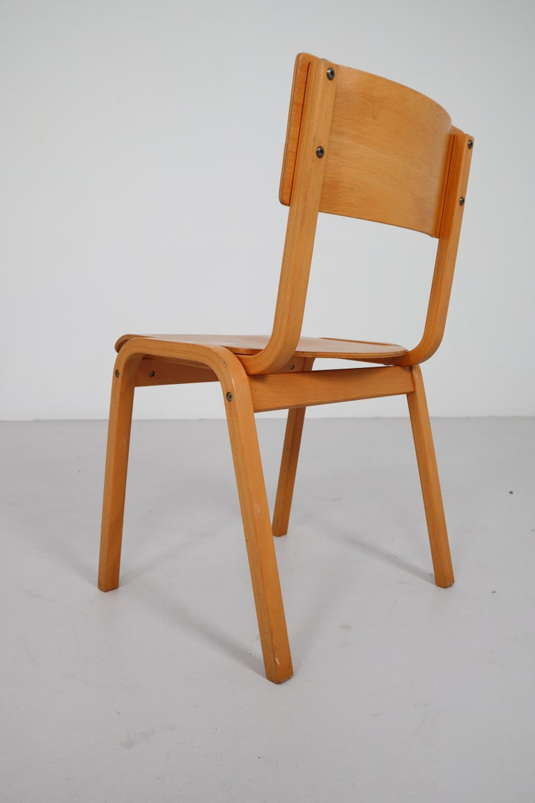 Set of 60 Scandinavian Modern Chairs Made from Bentwood and Plywood 1960s  For Sale 1