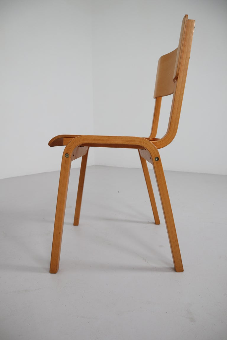 Set of 60 Scandinavian Modern Chairs Made from Bentwood and Plywood 1960s  For Sale 2